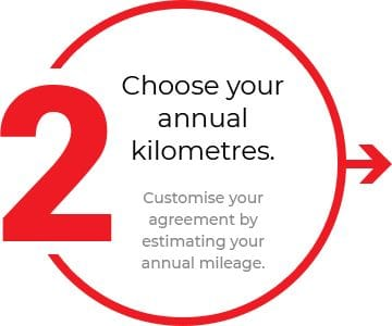 Choose your annual kilometres.