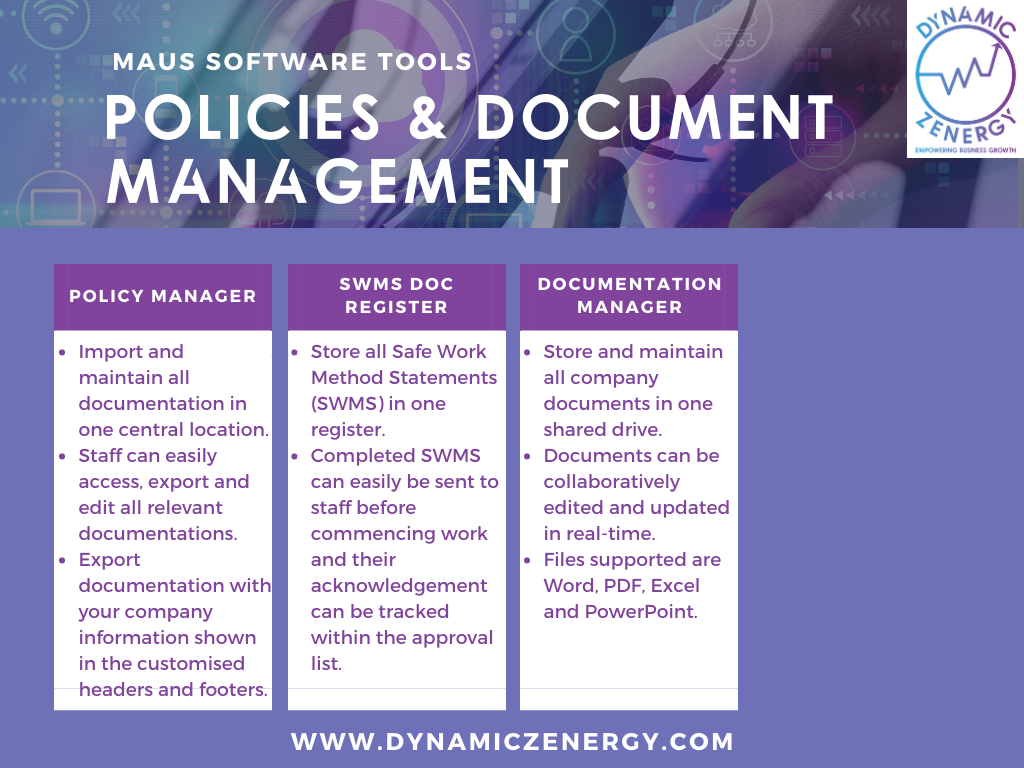 maus policies and document management