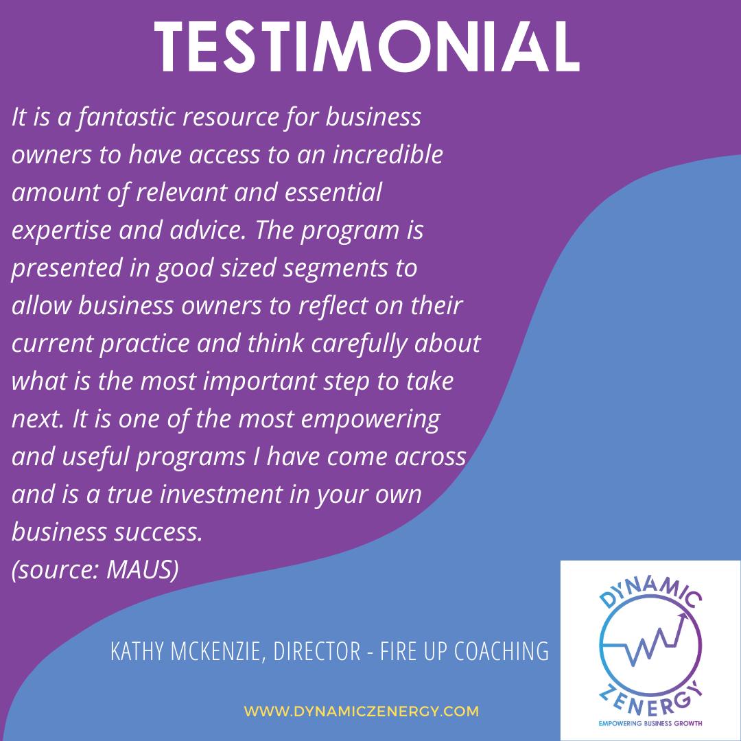 client testimonial dynamic zenergy
