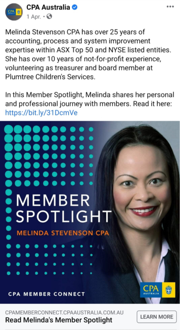 CPA Australia Facebook Dynamic Zenergy CEO Career Story