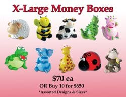 X Large Money Boxes