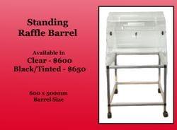 Standing Raffle Barrel