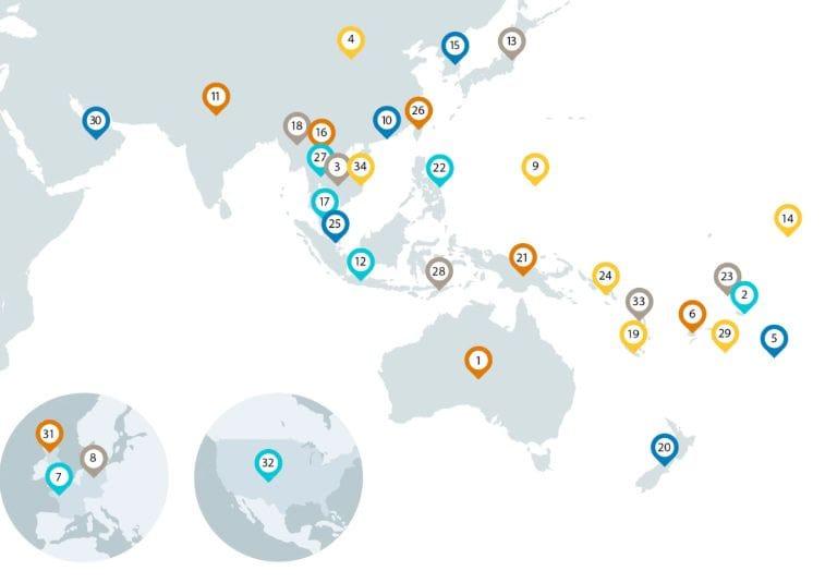 ANZ Map