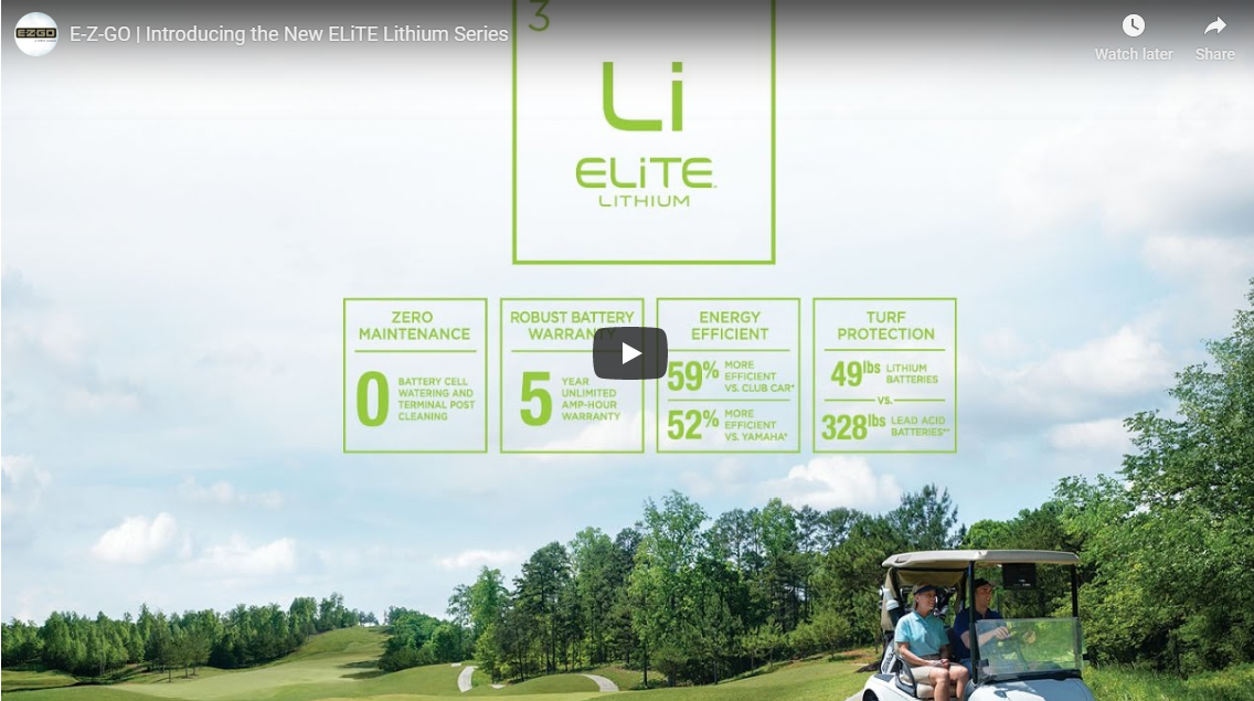Youtube Video Screen of ELiTE Lithium Ion