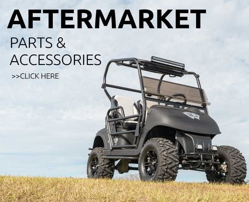golf vehicle enhanced with aftermarket parts and accessories