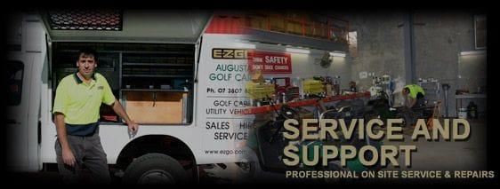 ezgo, augusta, golf, repairs, service, onsite