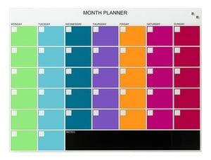 NAGA Coloured Month Planner 800 x 600