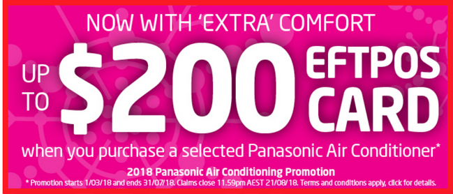 Panasonic Air Conditioner promotion