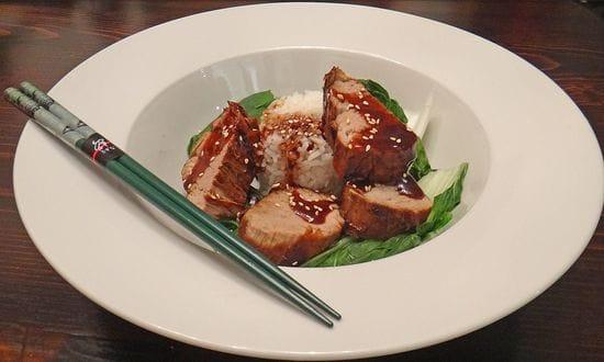 Five-spice Sticky Pork with Choy Sum