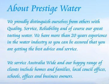 About Prestige Water Brisbane Water Coolers