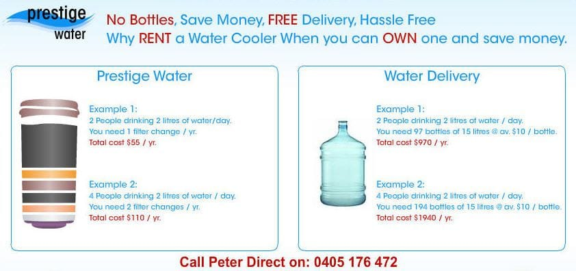 Compare and save with Brisbane Bottled Water Coolers