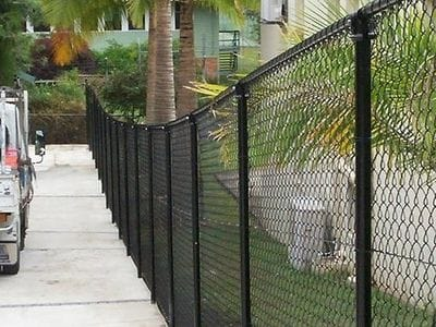 Chain Wire Fencing by Walkway