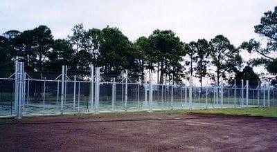 Chain Wire Fence Around Courts