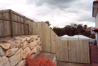 Timber Dividing Fence