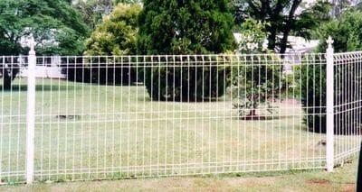 White Mesh Fence