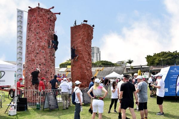 Product Launches and Trade Shows Mobile Rock Climbing