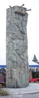 Mobile Rock Climbing Wall set-up