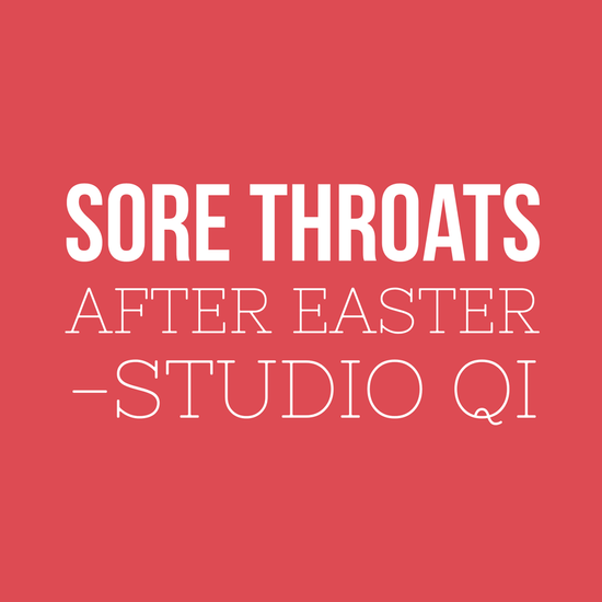 Sore throats after Easter