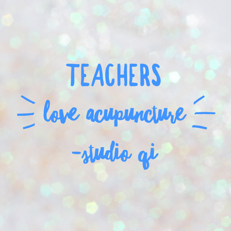 Teachers love acupuncture