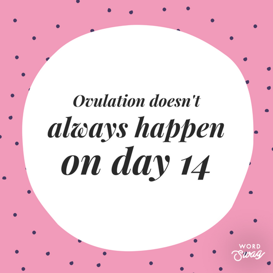 Ovulation doesn't always happen on day 14