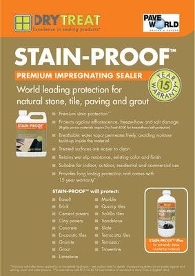 DryTreat Stain-Proof Brochure