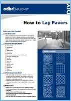 How to lay pavers
