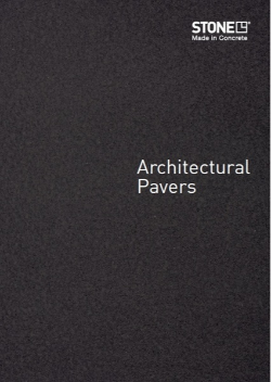 Stone Outdoors Architectural Pavers catalogue