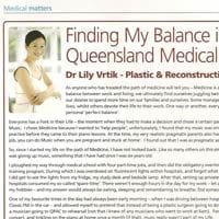 Dr Lily Vrtik in North West Private Hospital magazine
