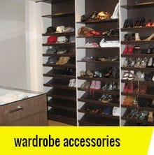 Wardrobe and storage space accessories