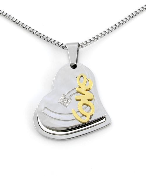 "Related Image Contemporary Heart ""Love"" Pendant"