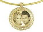Designer Italian Round Gold Pendant