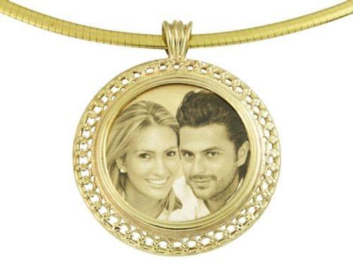 Main Image Designer Italian Round Gold Pendant