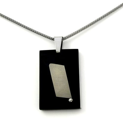 "Related Image Contemporary Rectangle ""Black Cover"" Pendant"