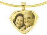 Designer Heart Gold Pendant