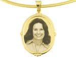 Designer Oval Gold Pendant