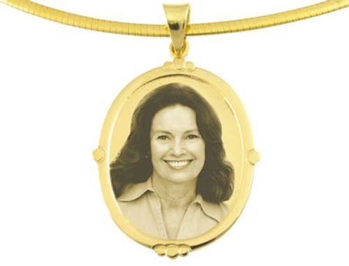 Main Image Designer Oval Gold Pendant