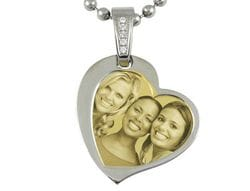 Contemporary Heart (no cover) Pendant