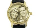 Image Watch Gold Plated Leather Gents or Ladies