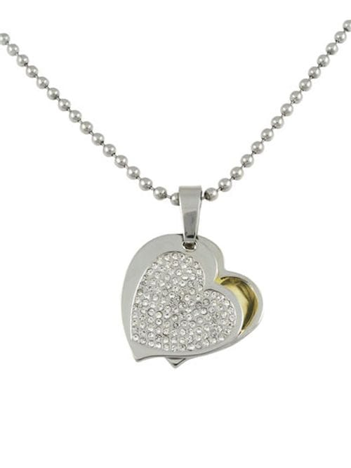 Related Image Contemporary Heart (with cover) Pendant