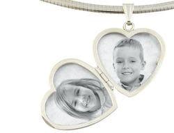 Locket Heart Sterling Silver
