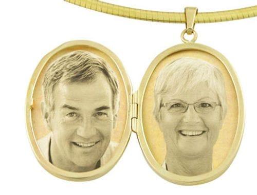 Main Image Locket Oval 9ct Yellow Gold