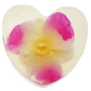 Heart Soap with Orchid