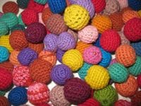 Crocheted balls 12pkt