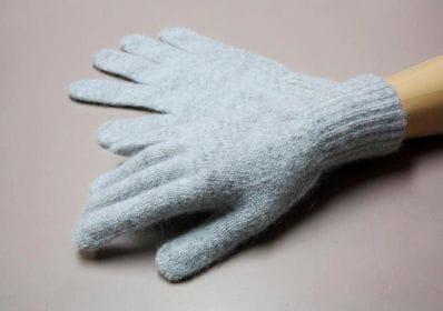 Grey Alpaca angora gloves