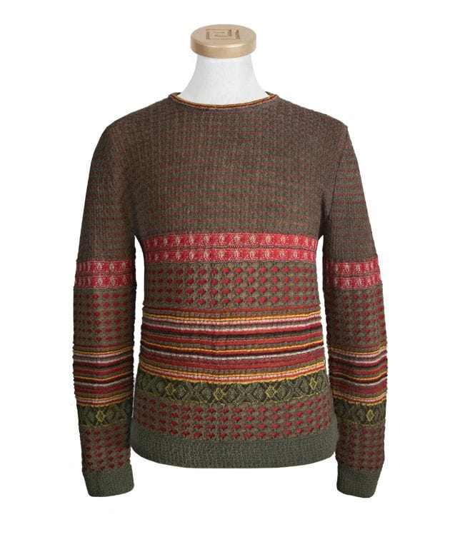 Multicolor Thick and  Alpaca Pullover