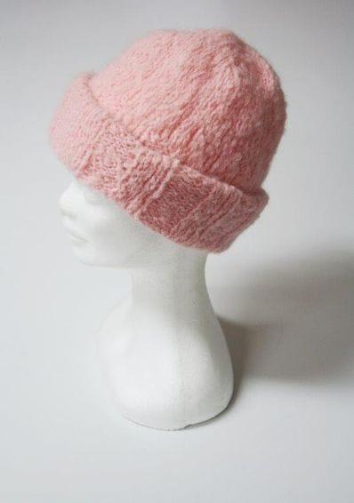 Pink Alpaca beanie