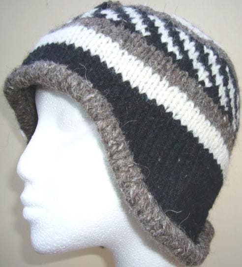 Natural colour mens beanie