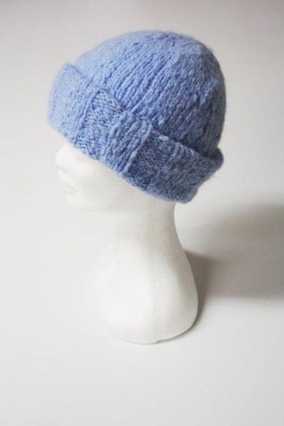 Blue Alpaca beanie