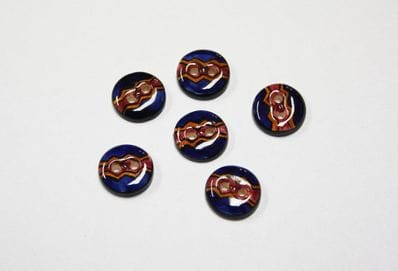 Hand painted buttons -dk blue