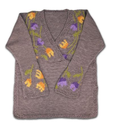 Tulips Design Sweater